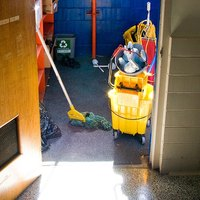 Custodial workers clean buildings.