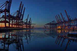 Cranes are important in the shipping industry and help move goods.