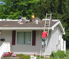 Construction of shingles for a home roof