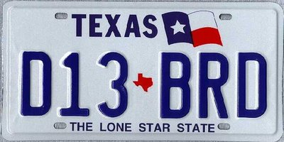 Search a Texas License Plate or VIN Number