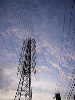 Copper's high conductivity is used for power lines.