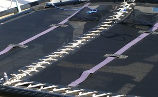 Tarp with grommets