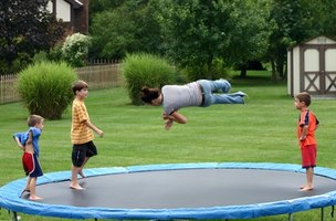 Trampolines are fun for the entire family.