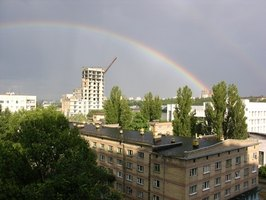 Rainbows are caused by light separating into its component wavelengths.