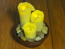 Beautiful candles can create a waxy mess.