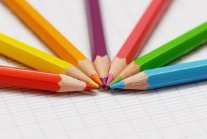 Colored pencils can encourage a kindergartner to use colorful words.