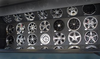 Chrome wheels are available at custom auto shops.