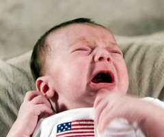 Special baby monitors alert deaf parents to a baby's cries.