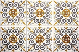 Tiles are a popular decorative covering for walls or floors.