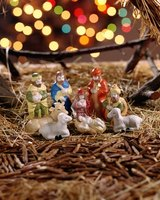 Nativity scenes all have three central figures.