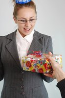 Giving a gift to a business associate has different rules than giving a gift to a friend.