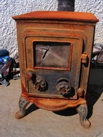 Restore your vintage cast-iron coal stove.