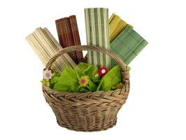 Baskets can be filled with a variety of items and given as gifts.