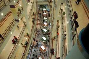 Large shopping malls require a lot of workers to keep the peace.
