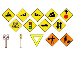 Traffic signs have been in use since Roman times.