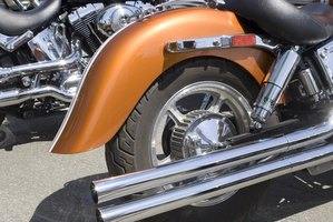 Motorcycle exhausts need to be cleaned periodically.