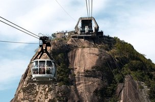 Cable cars offer the easiest visitor access to the top of Sugarloaf mountain.