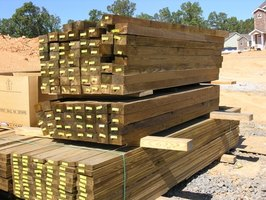 Composite lumber is a popular alternative to the dimensional lumber seen here.