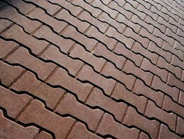 Brick resin pavers can be laid in a variety of patterns.