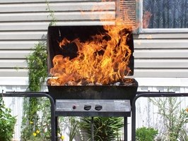 A filthy grill may will cause grease fire flare-ups and burn food
