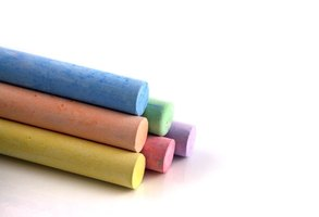 Colored chalk is a traditional training material.