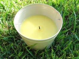 Citronella candles help repel insects.