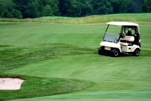 Electric carts are seen commonly on the golf course.