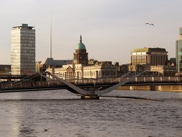 Many of Ireland's businesses are centrally located near the River Liffey.