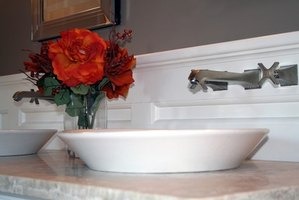 Install a vessel sink in your bathroom.