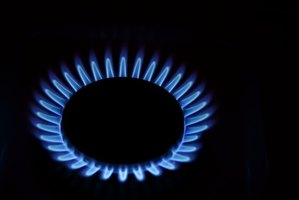 Soft blue flames are normal for natural gas.