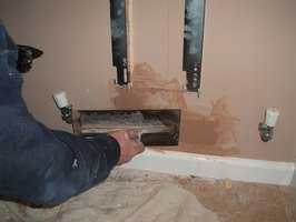 Large drywall holes may need a little wood patching first.