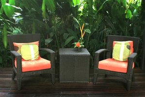Outdoor cane furniture sometimes needs an updated look.