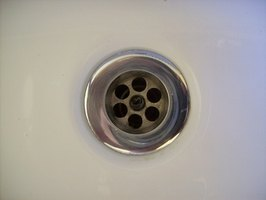 Remove the sink drain flange if it leaks.