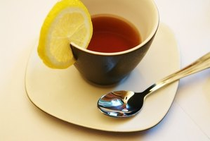 Drinking hot tea may help relieve congestion causing swallowing problems.