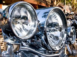 Check out these chrome headlights.