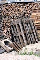 Scrap wood waits for new uses.