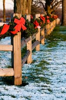 A split-rail fence can add a rustic touch to your property.
