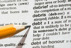 Dictionary definition of debt.