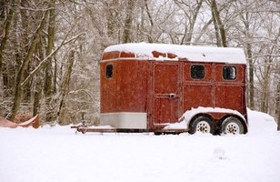 Horse trailers can be made from steel or aluminum.