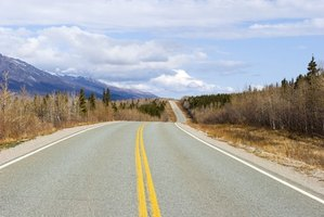 The Alaska Highway is the main driving route from the Lower 48.
