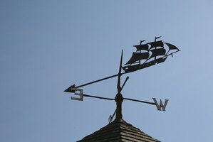 Weather vanes are the oldest type of wind measuring devices.