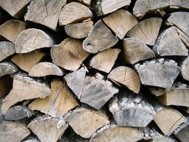 Measure a rank of firewood.