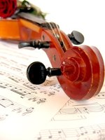 Violin music is written in the treble clef.