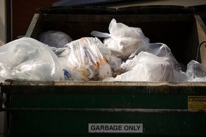 Most plastic garbage bags end up in landfills.