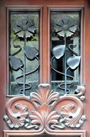 A door that showcases the Art Nouveau aesthetic looks spectacular.