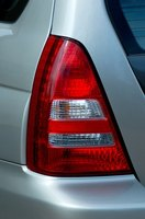 Remove taillights when they develop a crack or break.