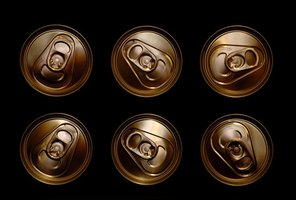 There are a number of different ways to crush soda cans.