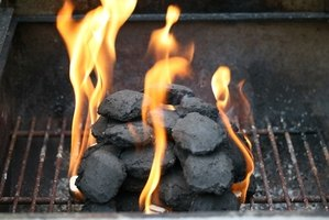 Stack your briquettes in a pyramid shape to get your barbecue started.