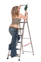 Step ladders can range from heights of 4 to 12 feet.