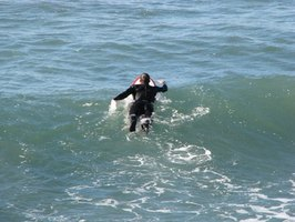 Wetsuits keep you warm in the ocean.